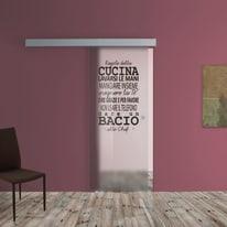Porta da interno scorrevole Regole Cucina 88 x H 215 cm sx