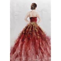 dipinto su tela Donna in rosa 60x90