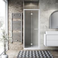 Porta doccia Record 97-101, H 195 cm vetro temperato 6 mm satinato/bianco opaco