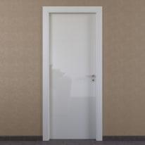 Porta da interno battente Massaua white bianco 60 x H 210 cm sx