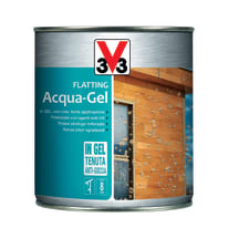 Flatting ad acqua V33 Acqua-Gel noce scuro brillante 0,75 L