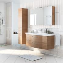 Mobile bagno Solitaire marrone L 122 cm