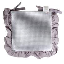 Cuscino per sedia sfoderabile double face Country grigio 40 x 40 cm