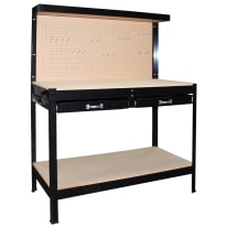 Banco da lavoro 2 cassetti, L112 x H150 x P61 cm, portata 150 kg