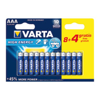 Pila alcalina ministilo AAA Varta High energy