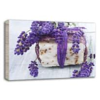 Quadro in legno Lavender soap 35x50