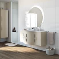 Mobile bagno Sting grigio natura L 138 cm