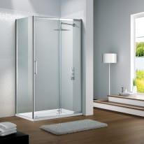 Porta doccia scorrevole Slimline 104-110, H 195 cm cristallo 6 mm trasparente/silver