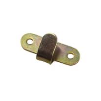 Gancio 60 x 30 mm, in acciaio zincato ad alta resistenza alla corrosione