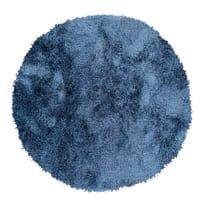 Tappeto Softy blu ø 150 cm