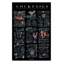 Poster Cocktails 61 x 91,5 cm