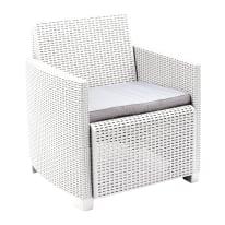 Set 2 poltrone /1 divano a 2 posti lipari bianco