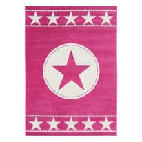 Tappeto Star kids fucsia, rosa 120 x 160 cm