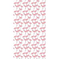 Tenda doccia Flamingo rossa L 120 x H 200 cm