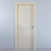 Porta da interno battente Massaua ivory avorio 70 x H 210 cm sx