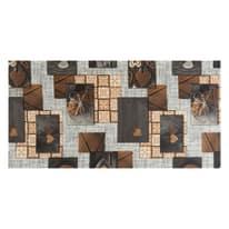 Tappetino cucina antiscivolo Full nodo marrone 55 x 75 cm