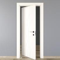 Porta da interno rototraslante Blades white bianco 70 x H 210 cm sx