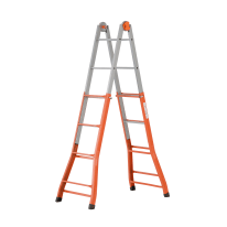 Scala telescopica acciaio Gierre 4+4 gradini, per lavori fino a 4,7 m