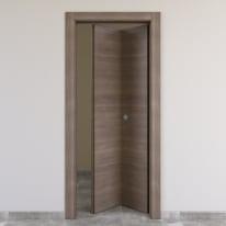 Porta da interno pieghevole Stylish grigio 70 x H 210 cm dx