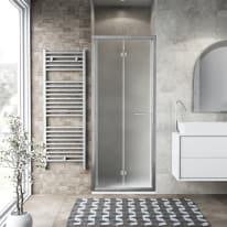 Porta doccia Record 77-81, H 195 cm vetro temperato 6 mm satinato/silver lucido