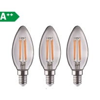 3 lampadine LED Lexman E14 =40W oliva luce naturale 360°