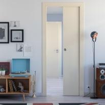 Porta da interno battente Massaua ivory avorio 80 x H 210 cm dx