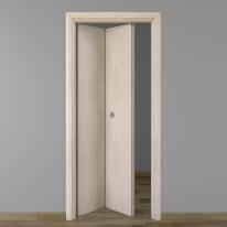 Porta da interno pieghevole Notting Hill pino sbiancato 80 x H 210 cm sx
