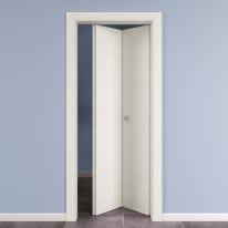 Porta da interno pieghevole Star Bianco Matrix 80 x H 210 cm dx