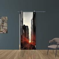 Porta da interno scorrevole Urban/binario Lux 88 x H 215 cm dx