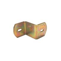 Piastrina sagomata 40 mm, in acciaio zincato ad alta resistenza alla corrosione