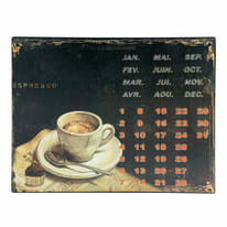Quadro in metallo Calendario 33x25