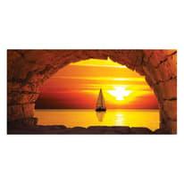 quadro su tela Finestra sul mare 50x100