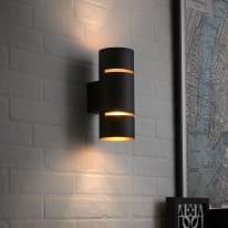 Applique LED integrato Tubbo nero/rame Ø 11,2 cm
