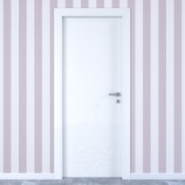 Porta da interno battente Dwarf white bianco 60 x H 210 cm sx