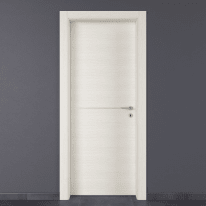 Porta da interno battente Hollow bianco matrix 80 x H 210 cm sx