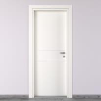 Porta da interno battente Two Lines bianco 70 x H 210 cm sx