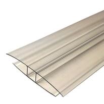 Profilo H Onduline in policarbonato 6,5 x 210  cm, spessore 6 mm