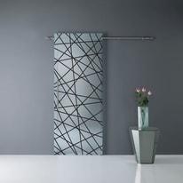 Porta da interno scorrevole Calipso righe nere 86 x H 220 cm dx