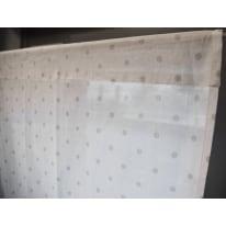 Coppia tendine a vetro per portafinestra Pilma grigio 60 x 240 cm