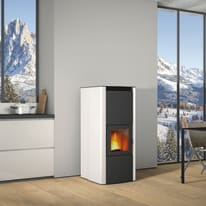 Termostufa a Pellet Superior Tamara TH 19,6 kW bianco