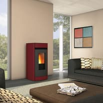 Stufa a Pellet Sally 11,1 kW bordeaux