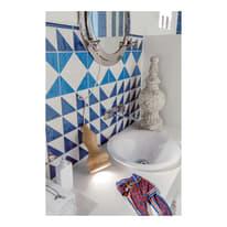 Piastrella con decoro Jolie Triangolo azzurro 10 x 10 cm