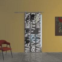 Porta da interno scorrevole Carpet 2/binario Ermes 88 x H 215 cm sx