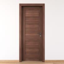 Porta per bed & breakfast battente Coventry noce 70 x H 210 cm sx