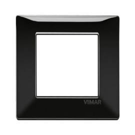 Placca 2 moduli Vimar Plana nero