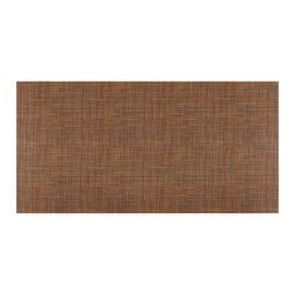 Tappetino cucina antiscivolo Digit texture marrone 52 x 100 cm