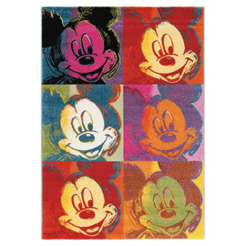 Tappeto Disney premium mickey patch multicolore 133 x 190 cm