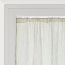Tendina a vetro per finestra Astrid bianco 60 x 150 cm