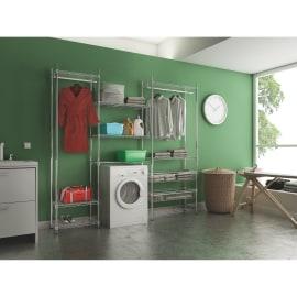 Composizione lavanderia Spaceo Chrome Style+ L 240 cm
