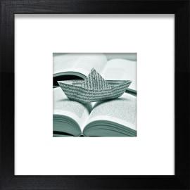Stampa incorniciata Barchetta 30 x 30 cm